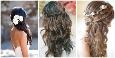 Peinados para novias - Peinados de boda semirecogidos ...